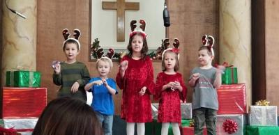 Wee Church children singing for Christmas 2018